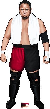 Wrestling Pixel Art - Samoa Joe