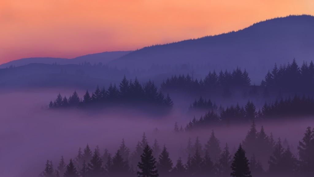 Ukrainian Mountains - Photoshop Drawing