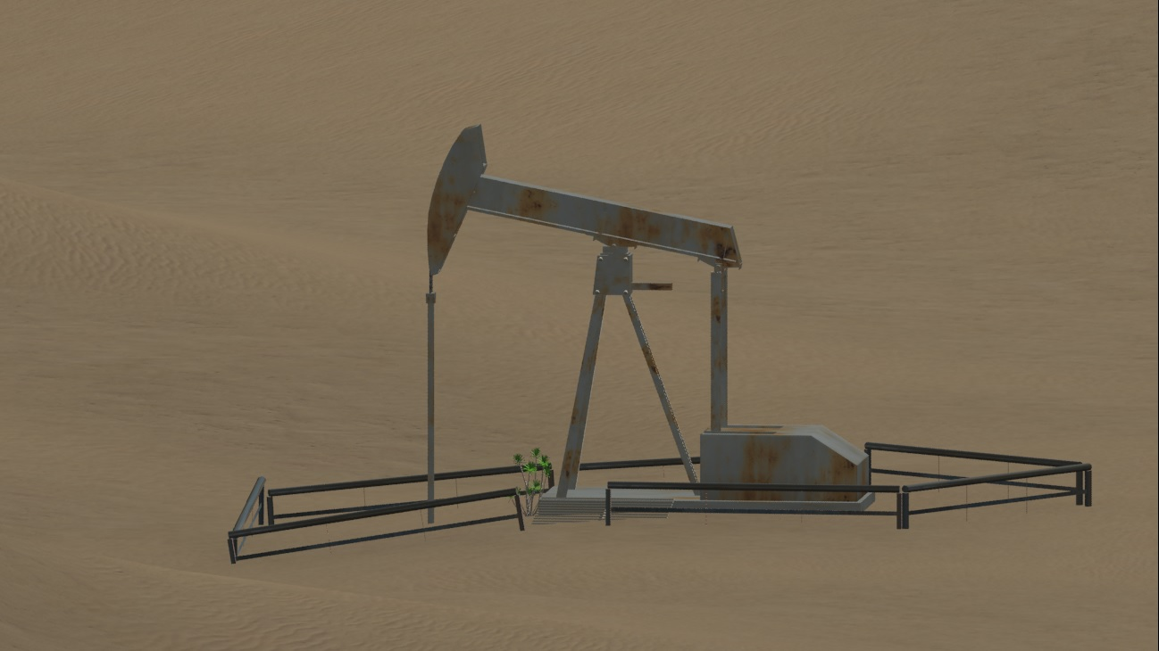 3D Model Oil Rig 3DS Max by Jan Schlosser