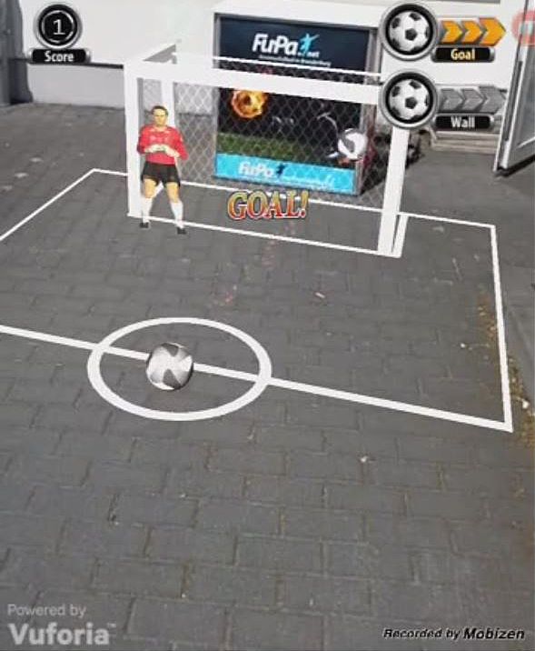 Augmented Reality Soccer App Screenshot 2
