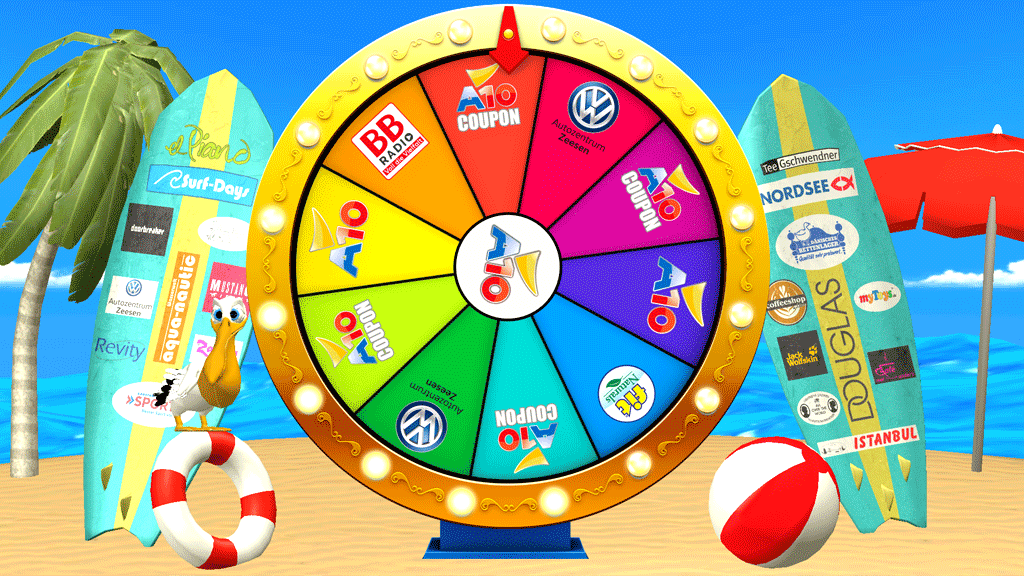 A10 Center Fortune Wheel Game Screenshot