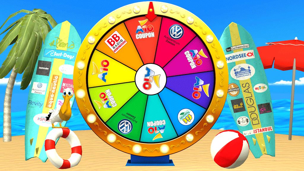 A10 Center Fortune Wheel Game Screenshot