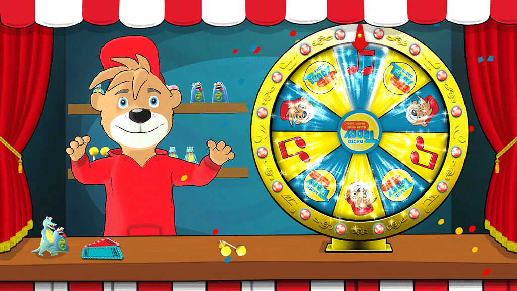 Radio Teddy Fortune Wheel Game Screenshot Winning