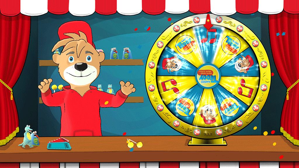 Radio Teddy Fortune Wheel Game Screenshot Winning