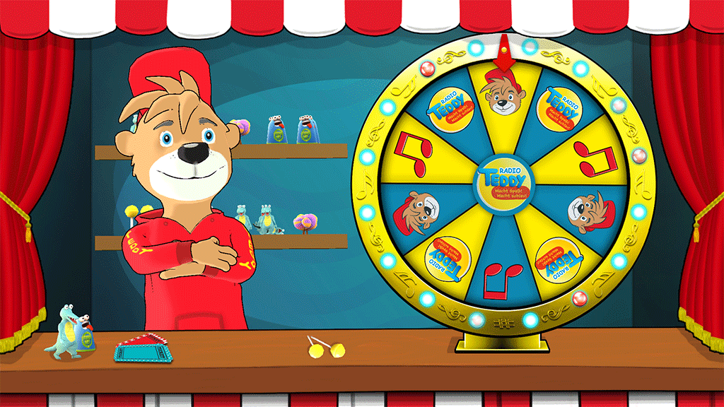 Radio Teddy Fortune Wheel Game Screenshot