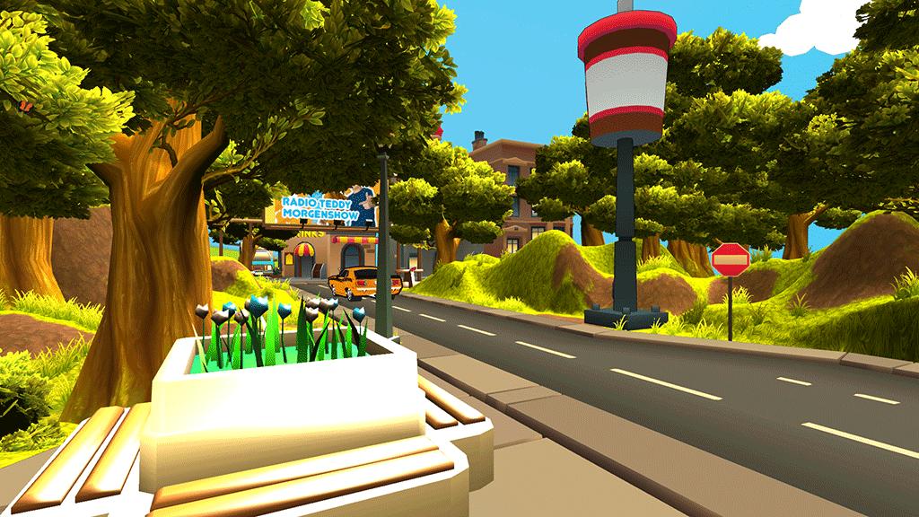 Screenshot of Radio Teddy entrance environment